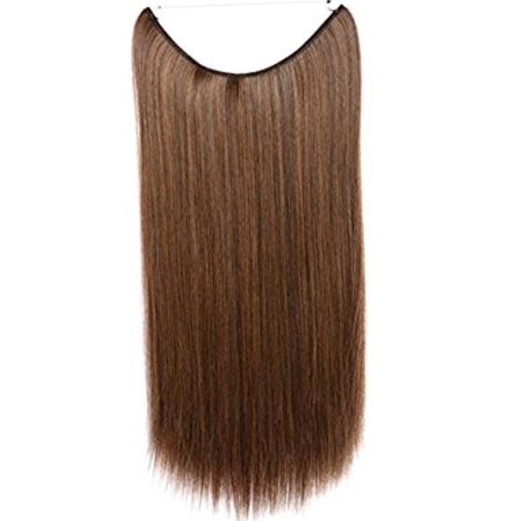 Accessories Dark Brown W Highlights 22 Halo Hair Extensions Poshmark